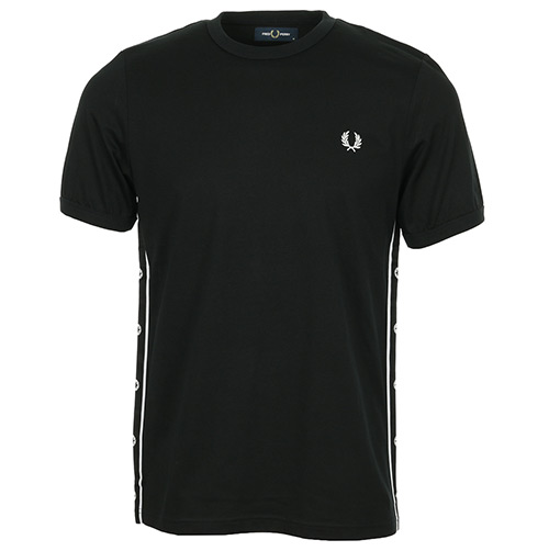 Fred Perry Taped Side T-Shirt - Noir