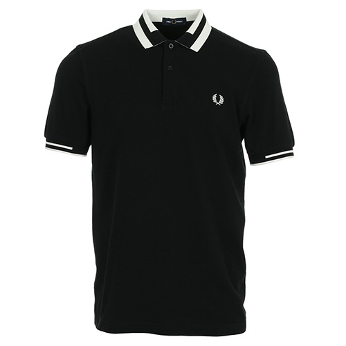 Fred Perry Block Tipped Polo Shirt - Noir