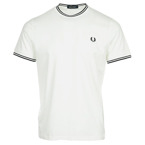 Fred Perry Twin Tipped T-Shirt - Blanc