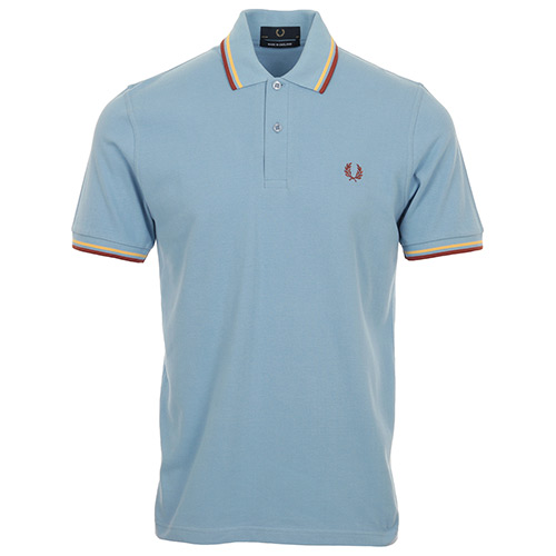 Fred Perry Twin Tipped Shirt Made In England - Bleu