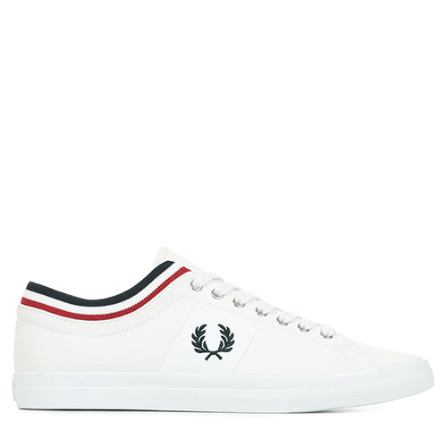 Fred Perry Underspin Tipped Cuff - Blanc
