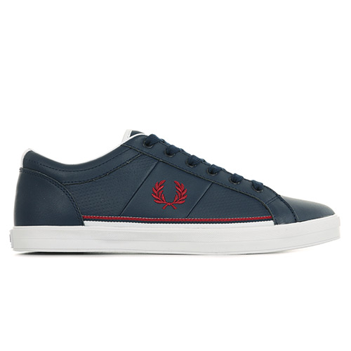 Fred Perry Baseline Perf Leather - Bleu marine