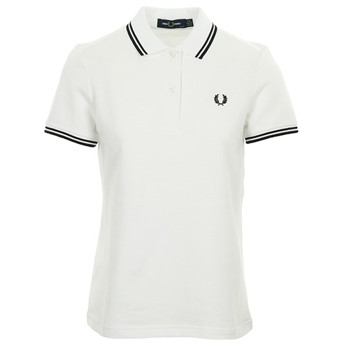 Fred Perry Twin Tipped Shirt Wn's - Blanc
