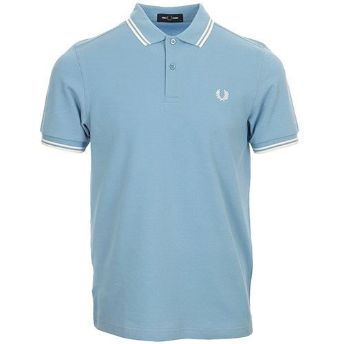 Fred Perry Twin Tipped Fred Perry Shirt - Bleu clair