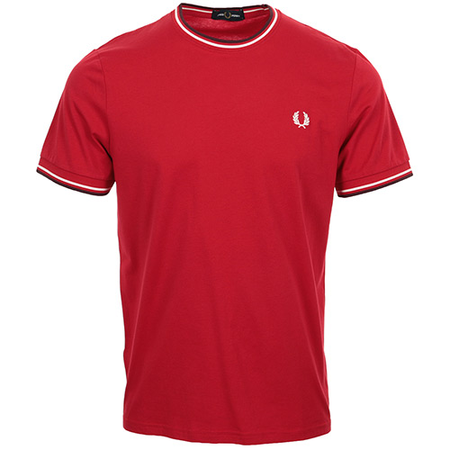 Fred Perry Twin Tipped T-Shirt - Rouge