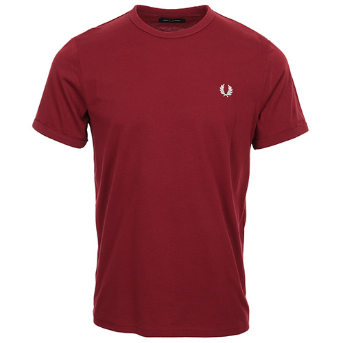 Fred Perry Ringer T-Shirt - Bordeaux