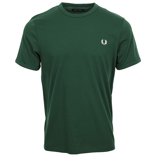Fred Perry Ringer T-Shirt - Vert olive