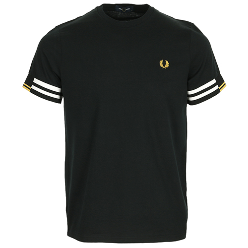 Fred Perry Abstract Cuff T shirt - Noir