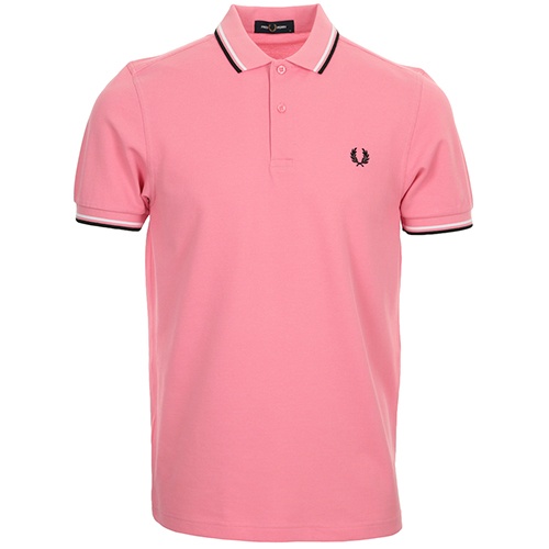 Fred Perry Twin Tipped Fred Perry Shirt - Rose