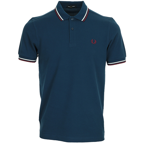 Fred Perry Twin Tipped Fred Perry Shirt - Bleu marine
