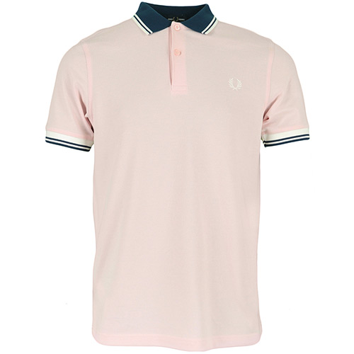 Fred Perry Contrast Rib Polo Shirt - Rose