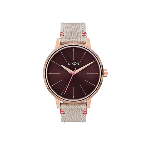 Kensington Leather Rose Gold Brown