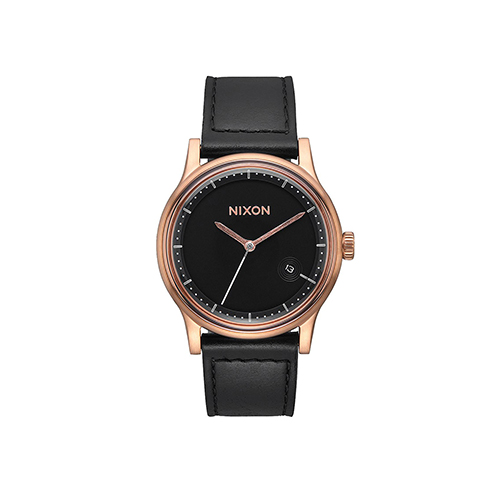 Station Leather Rose Gold Black
