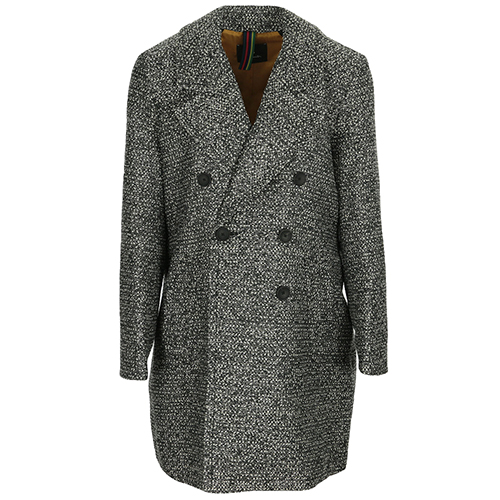 Manteau à double boutonnage Tweed
