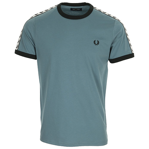 Fred Perry Taped Ringer T-Shirt - Bleu