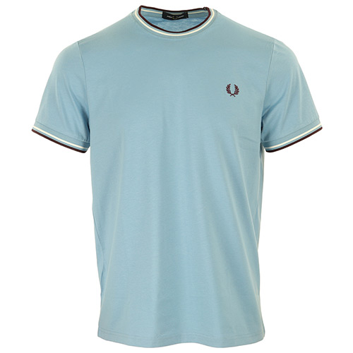 Fred Perry Twin Tipped T-Shirt - Bleu clair