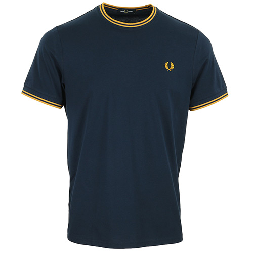 Fred Perry Twin Tipped T-Shirt - Bleu marine