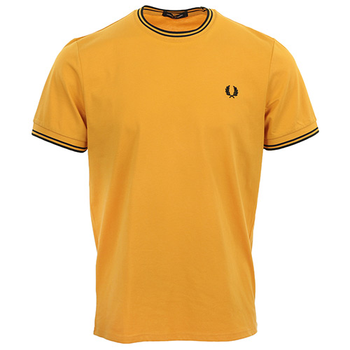 Fred Perry Twin Tipped T-Shirt - Jaune