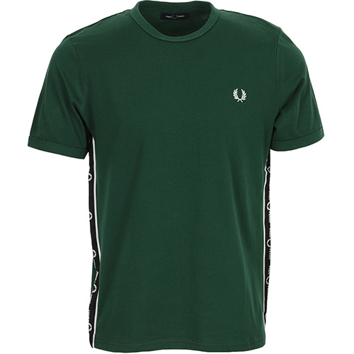 Fred Perry Taped Side T-Shirt - Vert