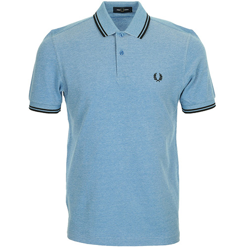 Fred Perry Twin Tipped Shirt - Bleu clair