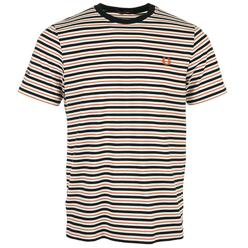 Fred Perry Fine Stripe T-Shirt - Noir