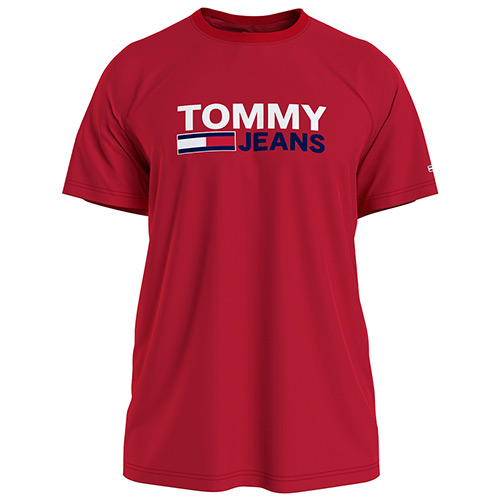 Tommy Hilfiger Corp Logo Tee - Rouge
