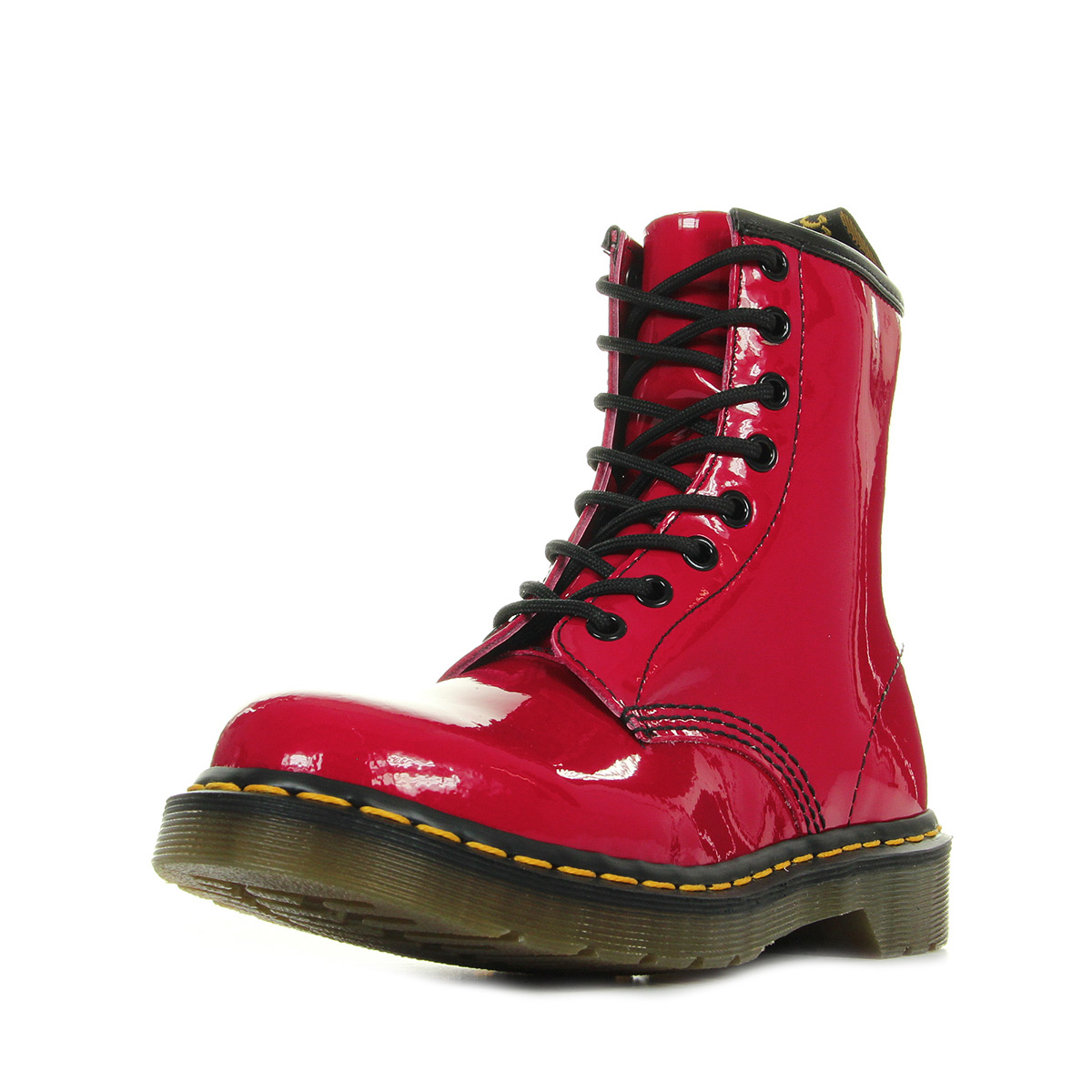 bottes doc martens rouge dr martens 1460 bottes mixte. Black Bedroom Furniture Sets. Home Design Ideas