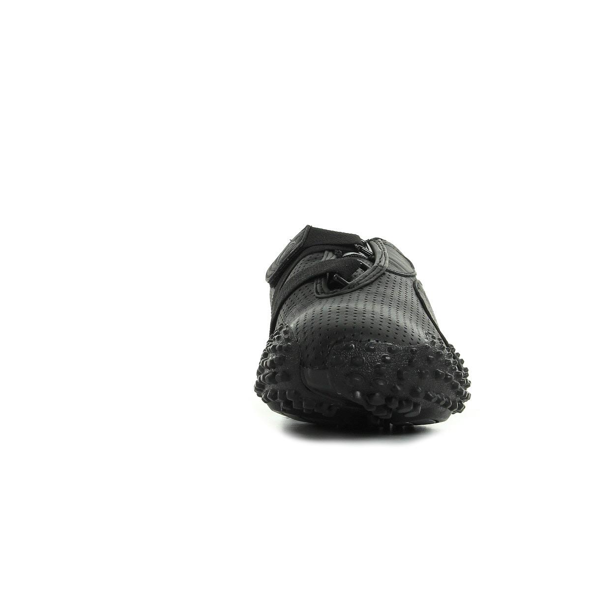 puma mostro cuir noir