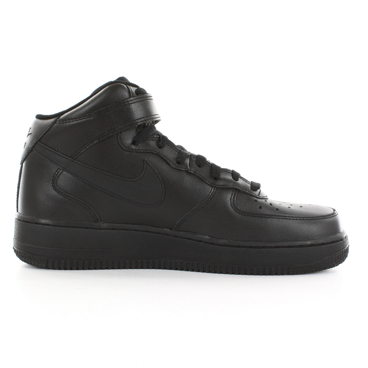 Chaussures Baskets Nike homme Air Obliger 1 mid Cuir '07 taille Noir Noire Cuir mid Lacets 556677