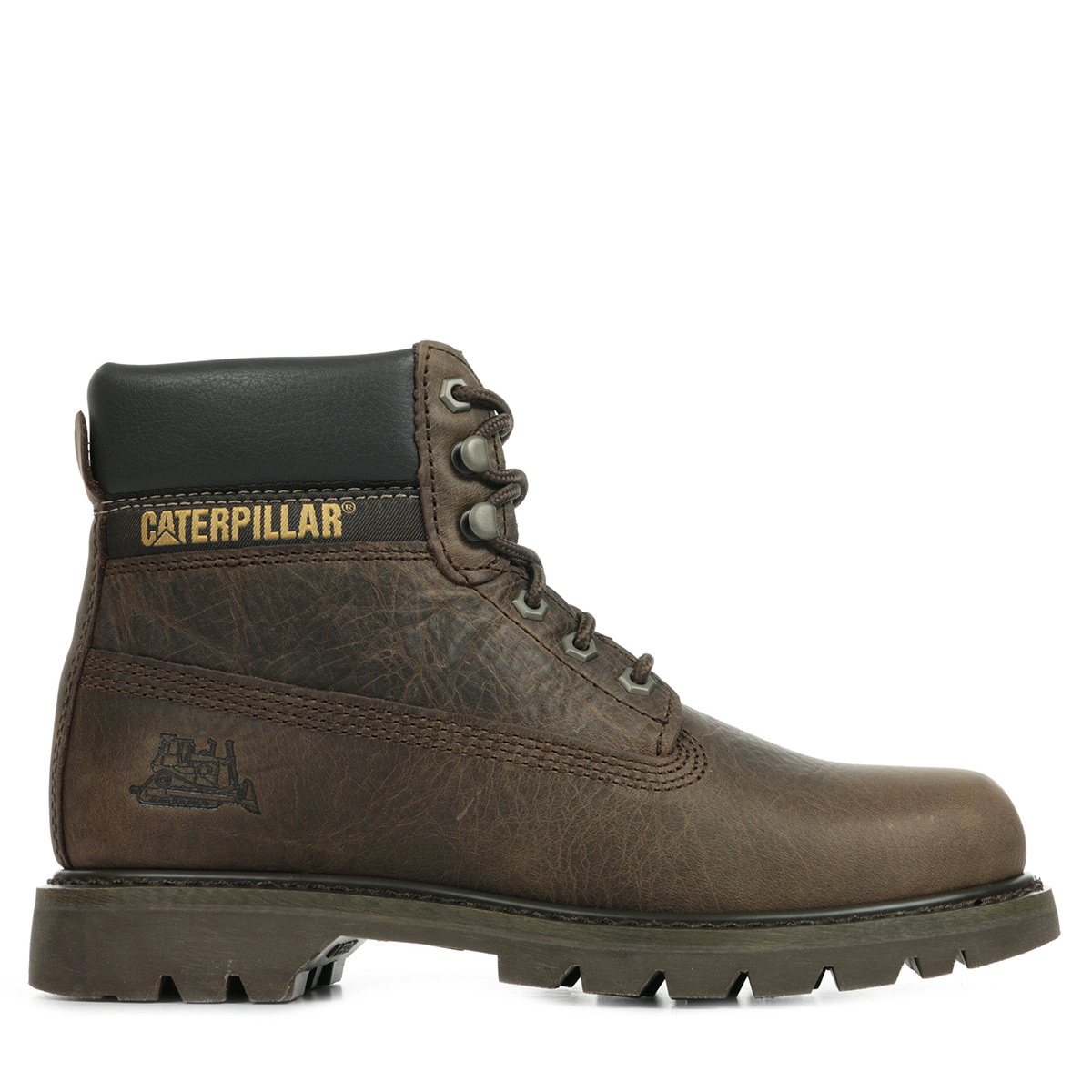 chaussures boots caterpillar homme colorado taille marron cuir lacets ebay. Black Bedroom Furniture Sets. Home Design Ideas