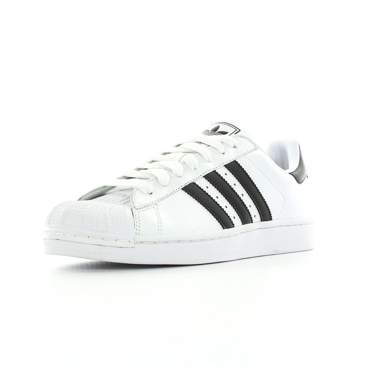 chaussures baskets adidas homme superstar 2 taille blanc blanche cuir lacets. Black Bedroom Furniture Sets. Home Design Ideas