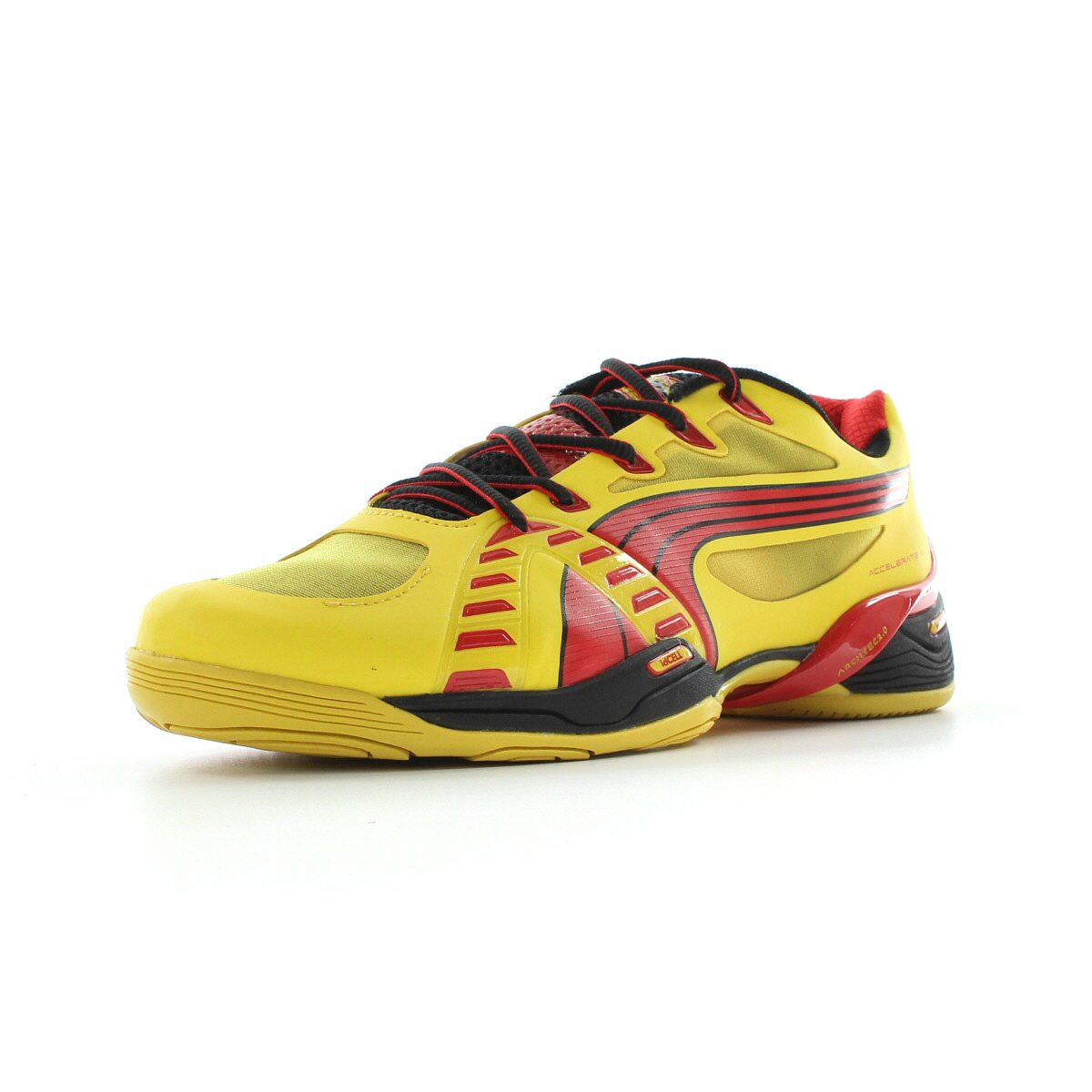 chaussures handball puma homme accelerate 6 taille jaune synth tique lacets. Black Bedroom Furniture Sets. Home Design Ideas