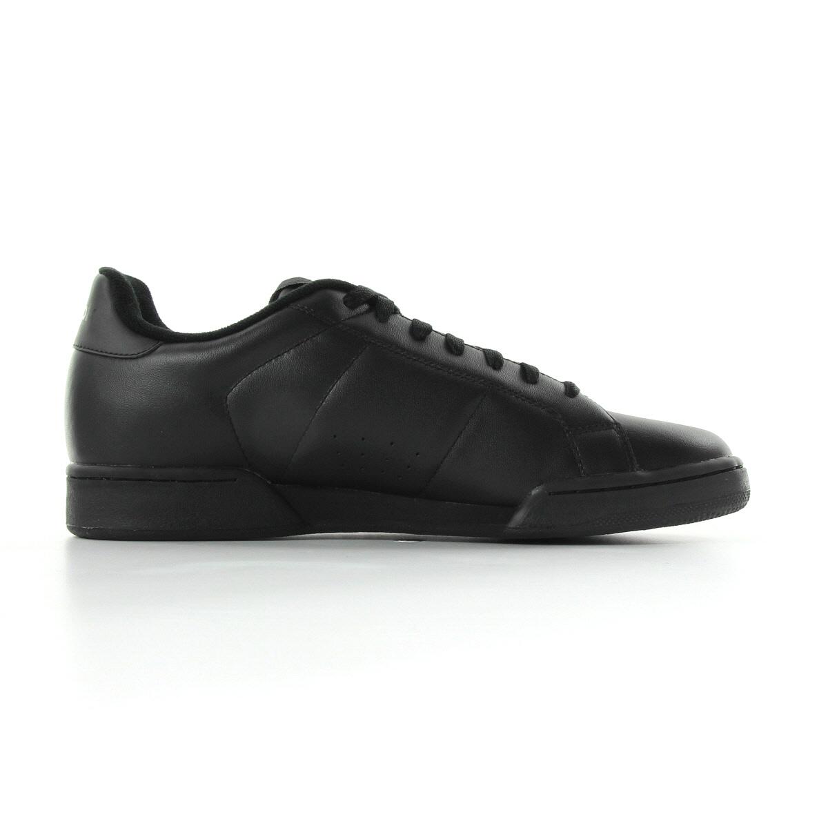 chaussures baskets reebok homme npc 2 taille noir noire cuir lacets ebay. Black Bedroom Furniture Sets. Home Design Ideas