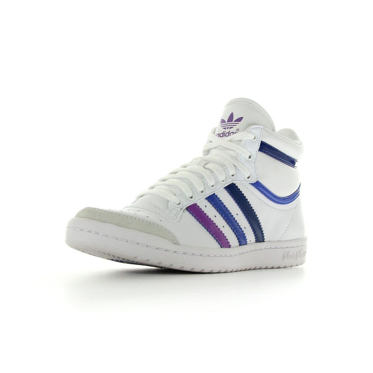 Chaussures baskets adidas femme top ten high sleek w taille blanc blanche cui - Chauffeuse cuir blanc ...