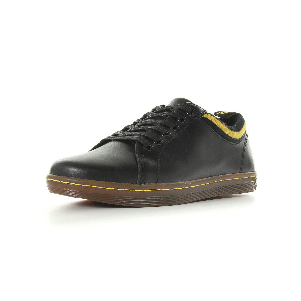 chaussures baskets doc martens homme trenton taille noir noire cuir lacets ebay. Black Bedroom Furniture Sets. Home Design Ideas