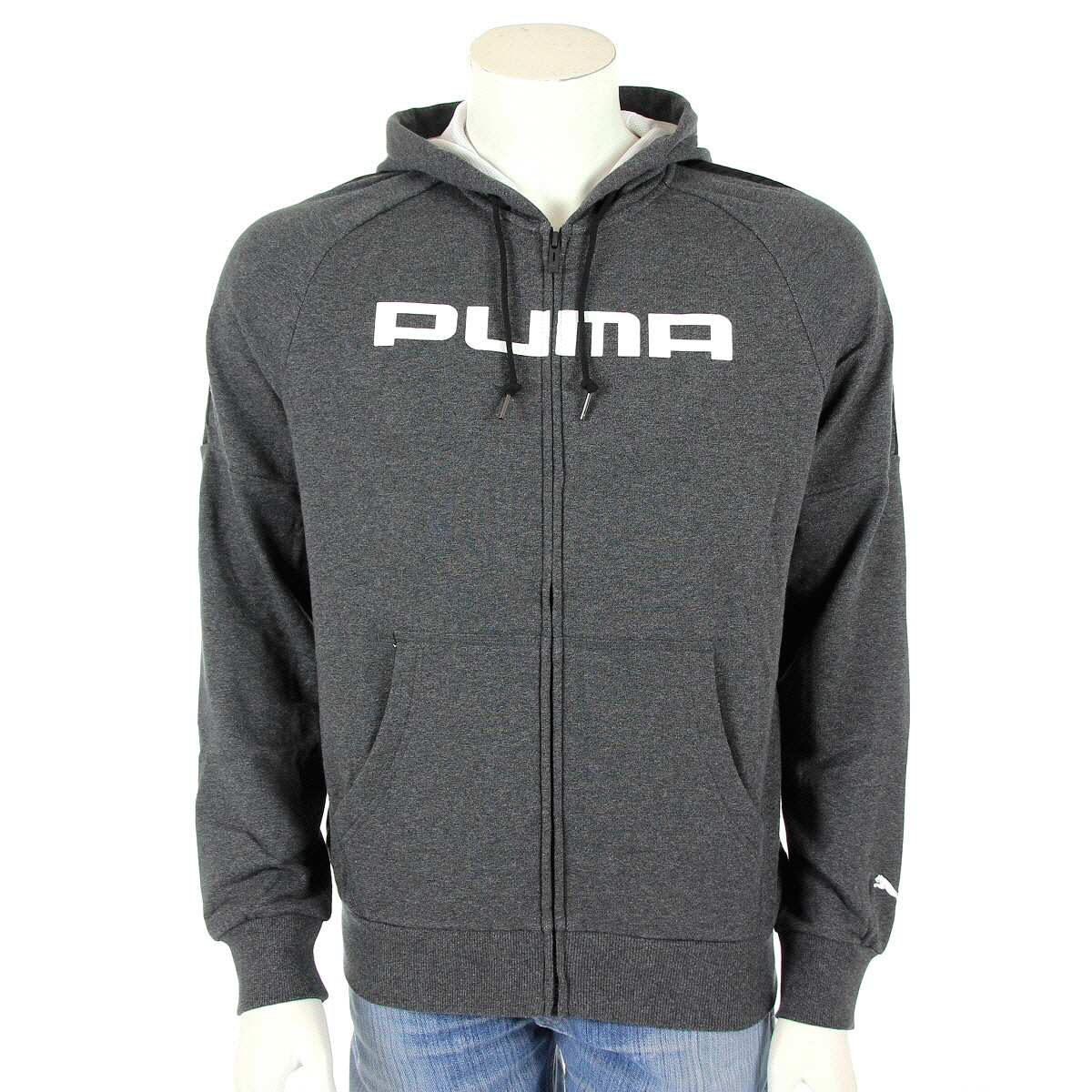 v tement veste sport puma homme f athletics h jacket terry taille gris grise ebay. Black Bedroom Furniture Sets. Home Design Ideas