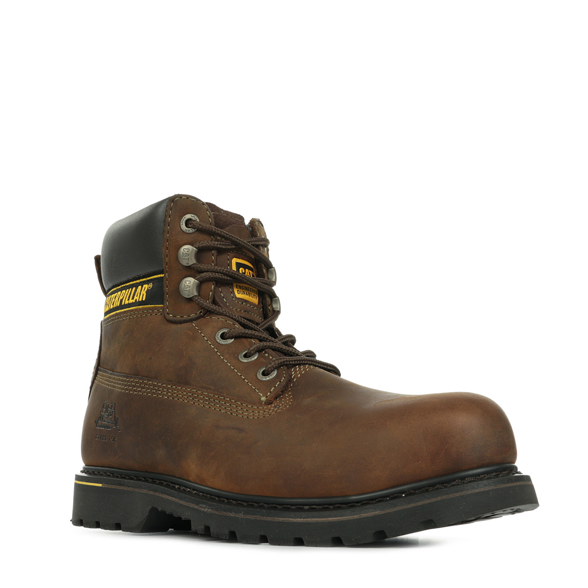 chaussures boots caterpillar homme holton sb taille brun brune cuir lacets ebay. Black Bedroom Furniture Sets. Home Design Ideas