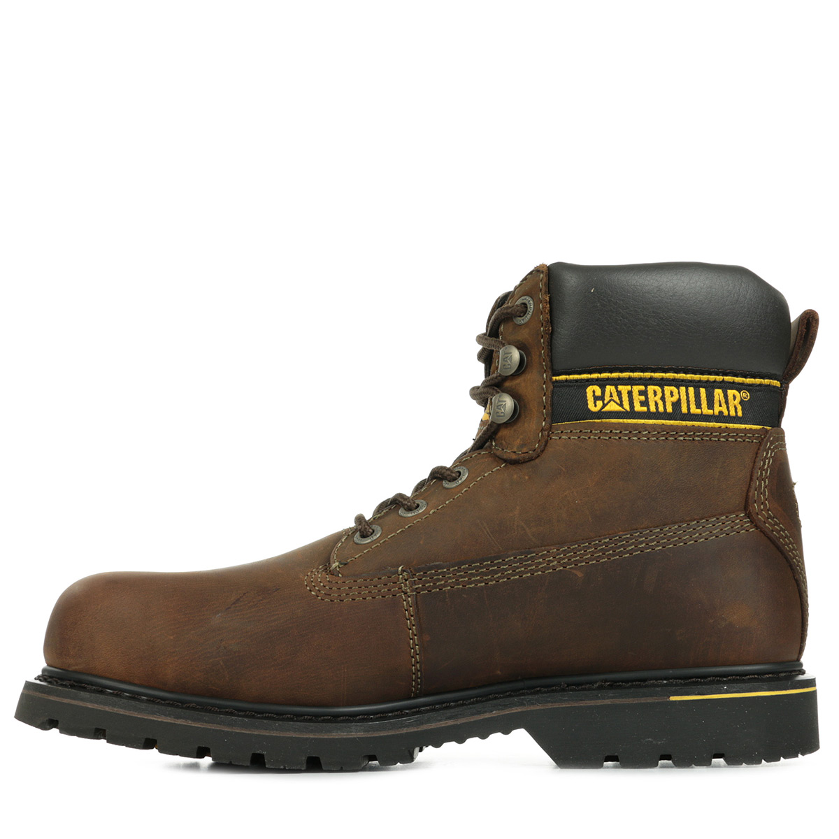 shoes boots caterpillar mens holton sb dark brown size leather laces ebay. Black Bedroom Furniture Sets. Home Design Ideas