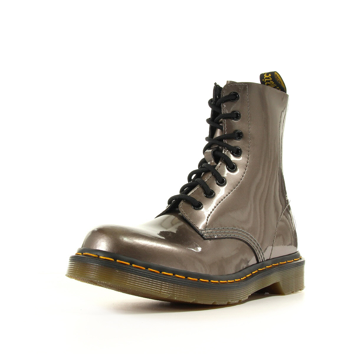 bottines doc martens femme pascal taille gris grise cuir lacets ebay. Black Bedroom Furniture Sets. Home Design Ideas