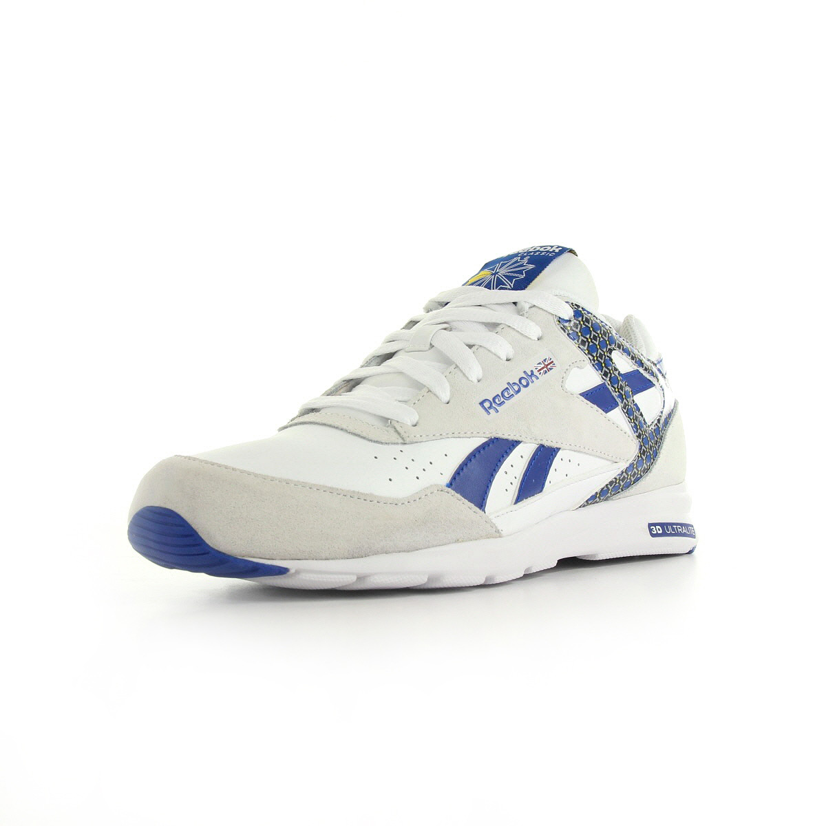 chaussures baskets reebok homme record mile taille blanc. Black Bedroom Furniture Sets. Home Design Ideas