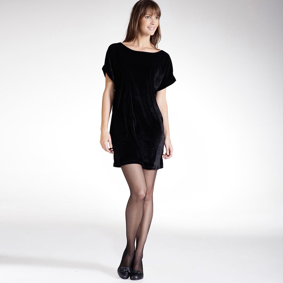 v tement robes la redoute cr ation femme robe taille noir. Black Bedroom Furniture Sets. Home Design Ideas