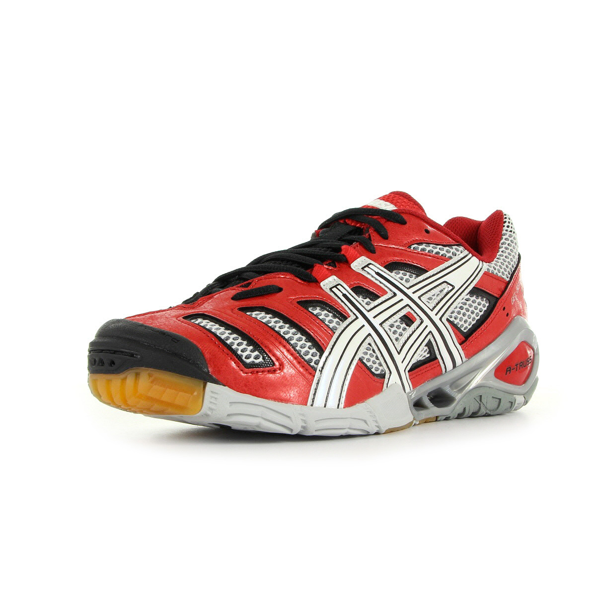 chaussures handball asics homme gel sensei 4 taille rouge synth tique lacets ebay. Black Bedroom Furniture Sets. Home Design Ideas