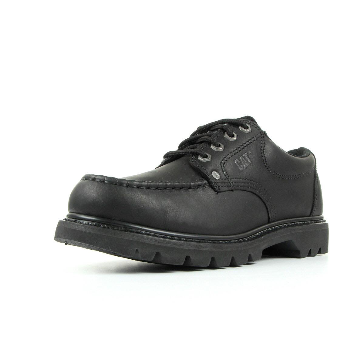 Chaussures ville basses caterpillar homme fenton taille noir noire cuir lacets ebay - Chaussure homme caterpillar ...