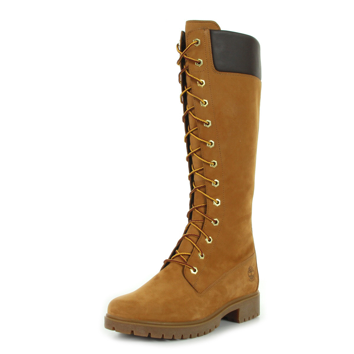 bottes timberland femme auth teddy fleece wp whea taille camel cuir lacets ebay. Black Bedroom Furniture Sets. Home Design Ideas