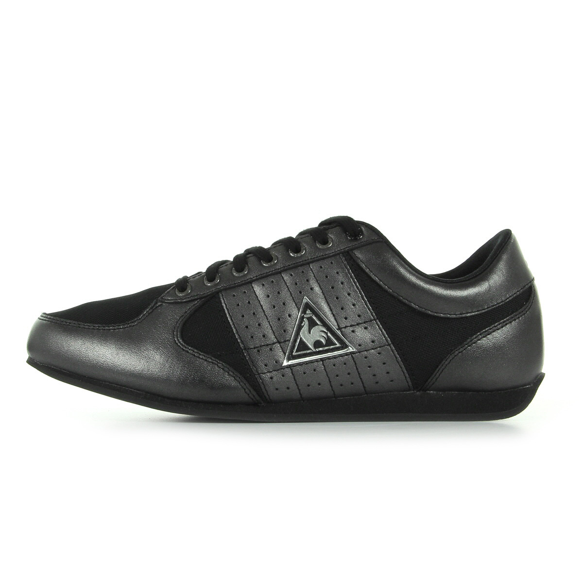 sneaker schuhe le coq sportif damen escrimilla 2 mesh schwarz leder ebay. Black Bedroom Furniture Sets. Home Design Ideas
