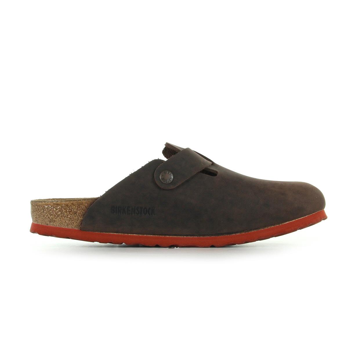 mules nu pieds birkenstock homme boston taille marron cuir a enfiler ebay. Black Bedroom Furniture Sets. Home Design Ideas