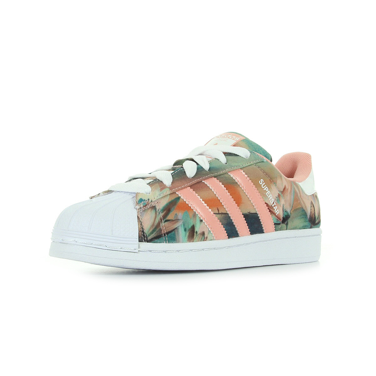 chaussures baskets adidas femme superstar w taille rose p le synth tique ebay. Black Bedroom Furniture Sets. Home Design Ideas
