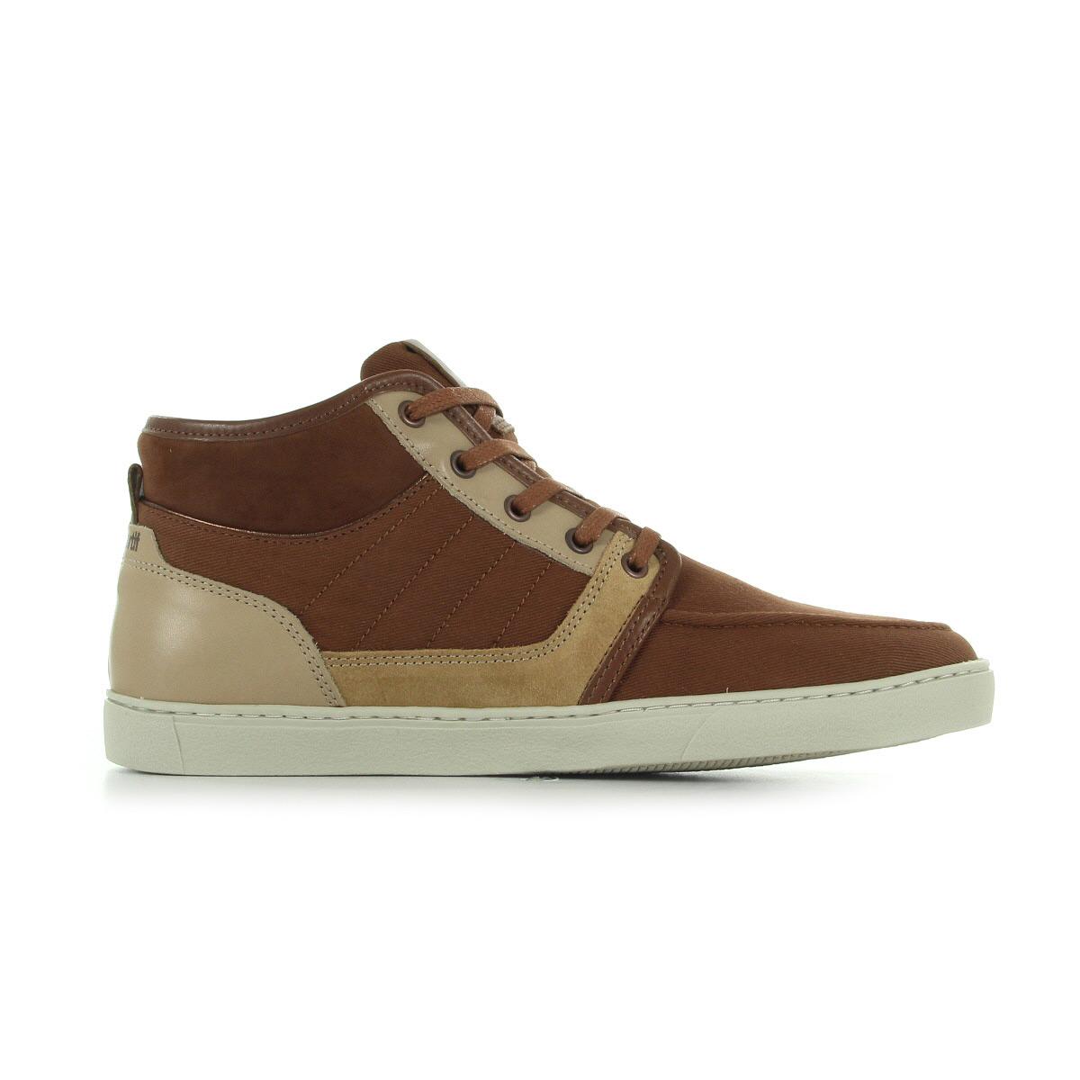 chaussures baskets le coq sportif homme perpignan demi cvs  suede taille brun