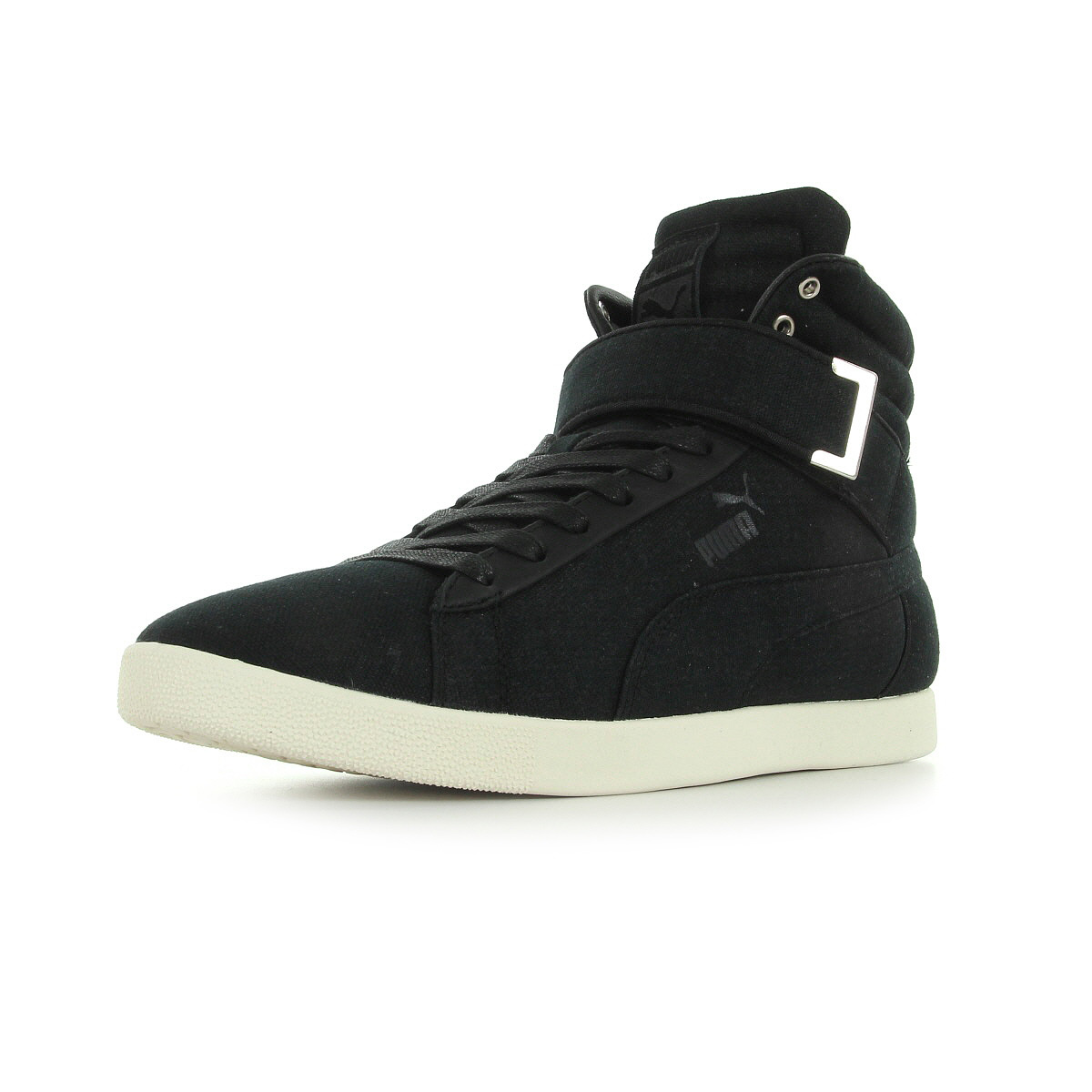 chaussures baskets puma homme modern court hi canvas taille noir noire textile ebay. Black Bedroom Furniture Sets. Home Design Ideas