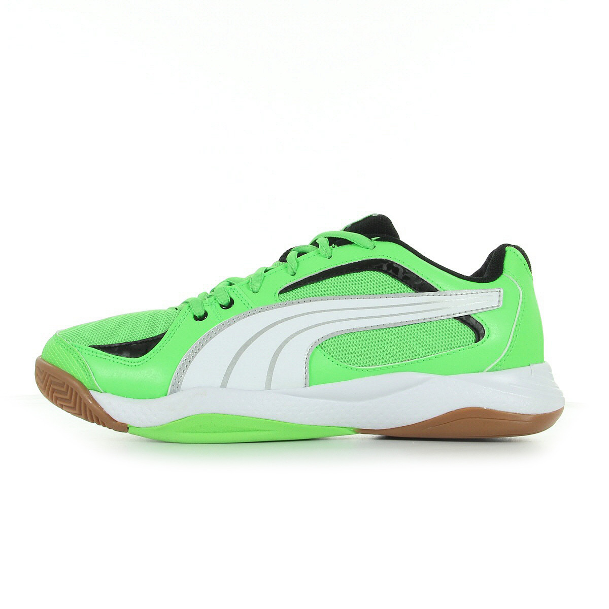 chaussures handball puma gar on ballesta jr taille vert fluo verte textile ebay. Black Bedroom Furniture Sets. Home Design Ideas
